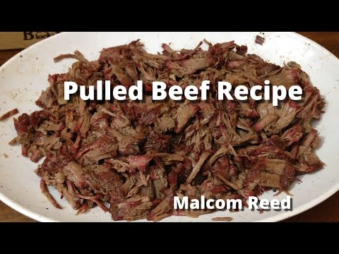 Smoked Chuck Roast for Pulled Beef Sandwich