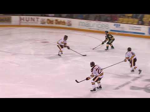 UMD Men's Hockey vs University of Alberta Highlights (9/30/17)