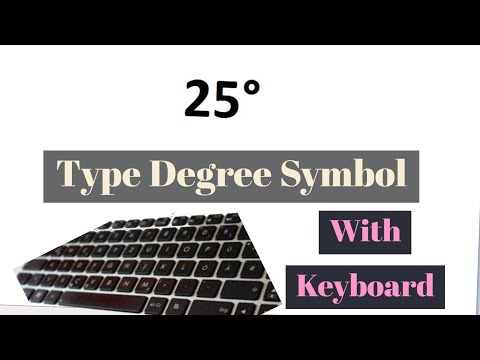 How To Type Degree Symbol With Your Keyboard How To Find And Write Degree Symbol On Your Key Board Youtube