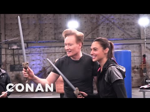 Behind The Scenes Of Conan's Workout With Wonder Woman Gal ...