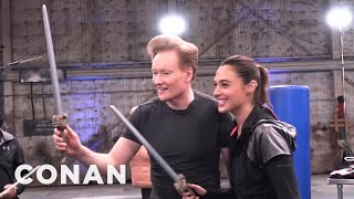 Behind The Scenes Of Conan's Workout With Wonder Woman Gal Gadot