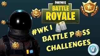 Fortnite - Battle Pass Challenge Week 1 - Forziere del tesoro, Lama, Volpe, Granchio