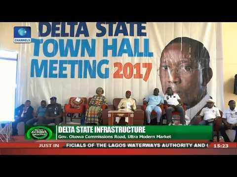 Gov. Okowa Commissions Road, Ultra Modern Market |News Across Nigeria|