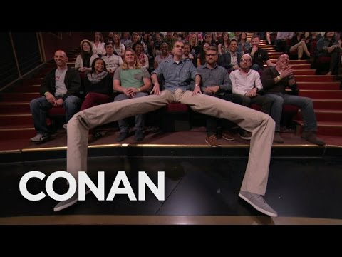 There's A Manspreader In The Audience!  - CONAN on TBS