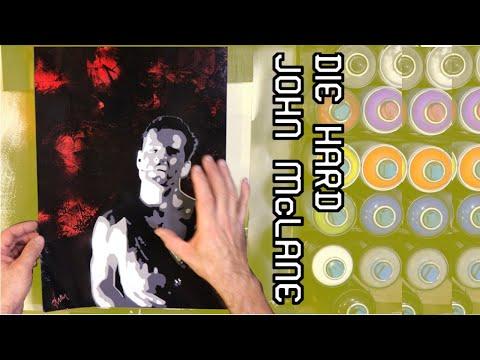 John McLane From DIE HARD - Spray Paint Stencil Art