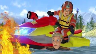 Feuerwehrmann Sam ⭐️ Tiefwassersicherheit bei den Wildmenschen!  🌊 Sicher mit Sam | Cartoons