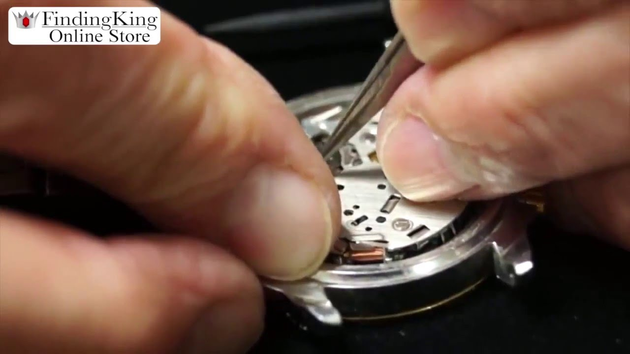 how to change the battery on a waterproof watch youtube