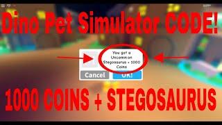 Dino Pet Simulator CODE - ROBLOX (1000 coins + FREE DINO)