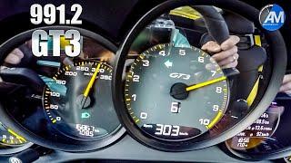 Porsche 991.2 GT3 (4.0) - 0-300 km/h acceleration🏁