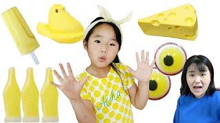 Yellow food vending machine toy play 수지의 노란색 디저트 음식 자판기 장난감 놀이 먹방 LittleJoy 리틀조이