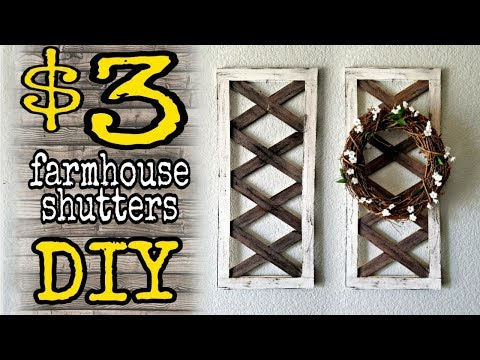 DIY Dollar Decor Farmhouse shutters