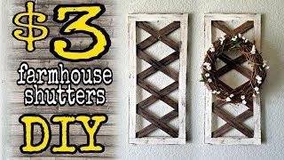 DIY Dollar Decor Farmhouse shutters