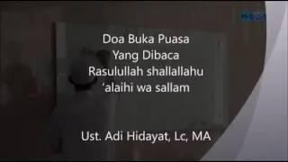 Do'a puasa yg shahih ustadz Adi Hidayat. Lc 2017 Video