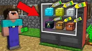 Minecraft NOOB vs PRO: WHICH RAREST CHEST WILL WIN NOOB IN VENDING MACHINE? Challenge 100% trolling