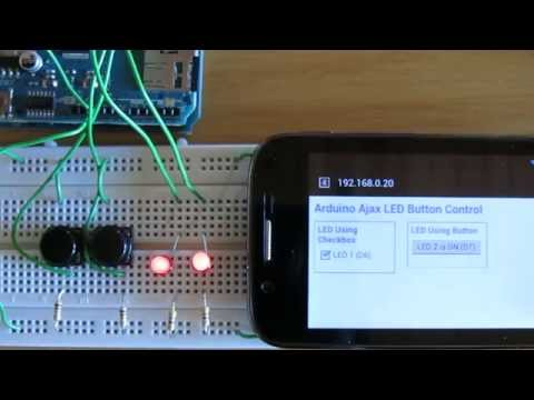 Arduino Web Page LED Control using HTML Button and Hardware Button