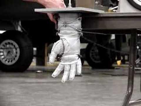 2007 NASA Astronaut Glove Competition Burst Test - YouTube