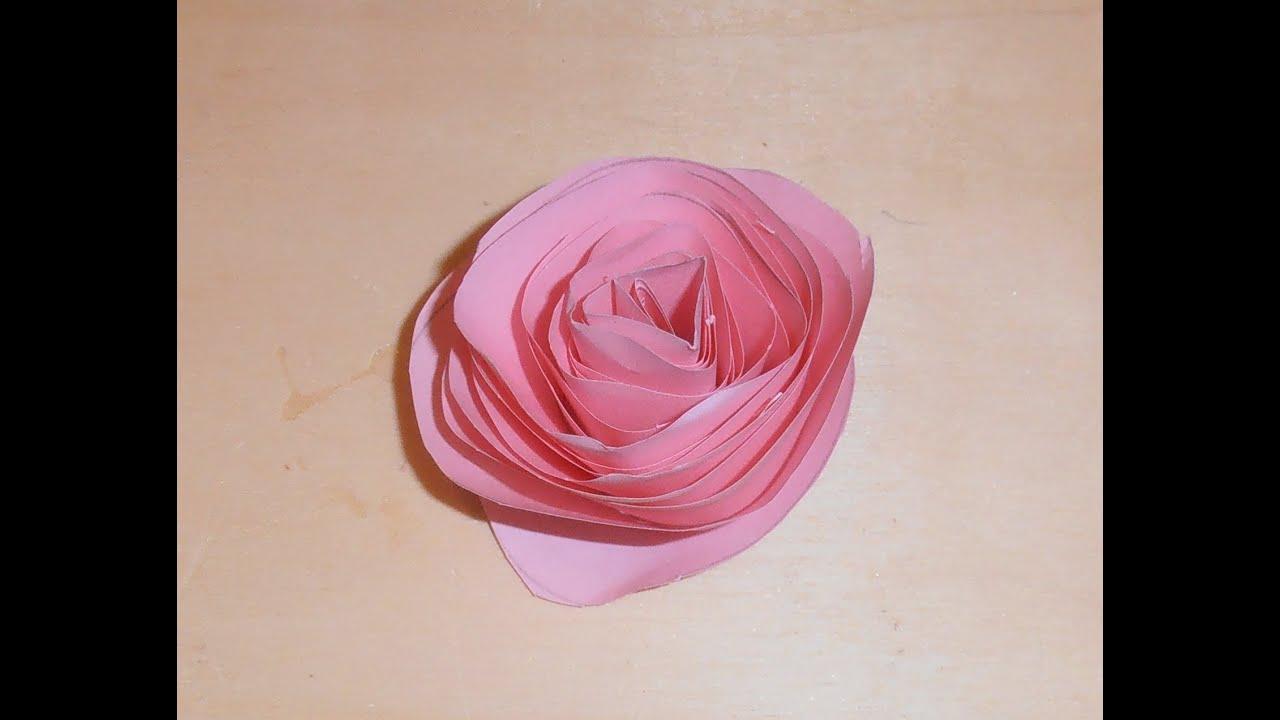 C mo hacer una rosa con papel youtube - Como secar una rosa ...