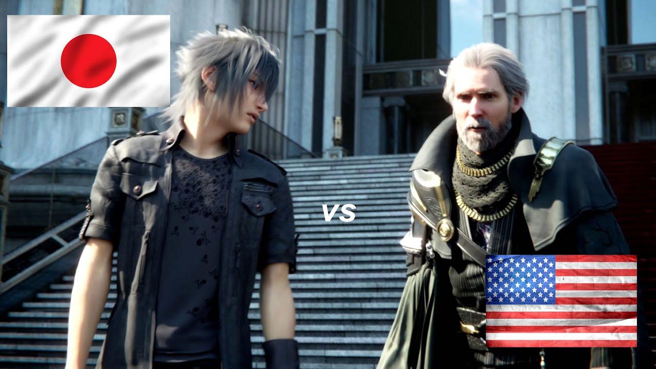 Final Fantasy XV - English Vs Japanese Voice Comparsion ...