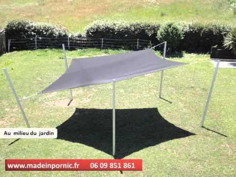 voile dombrage made in pornic toile tendue brise vue brise vent bache terrasse video