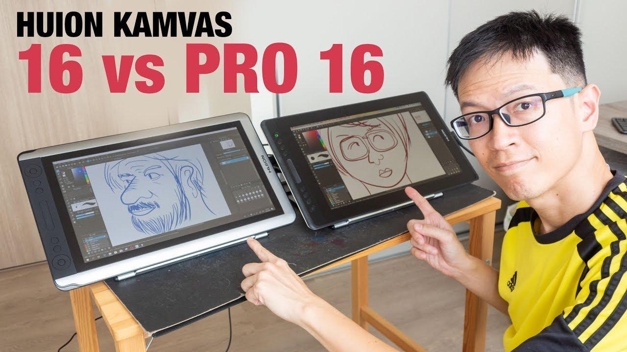 Huion KAMVAS 16 vs Pro 16 pen displays – Tablet PC examen