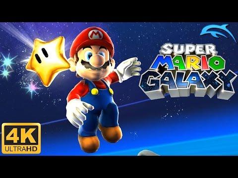 Super Mario Galaxy - Gameplay Wii 4K 2160p (Dolphin 5.0)