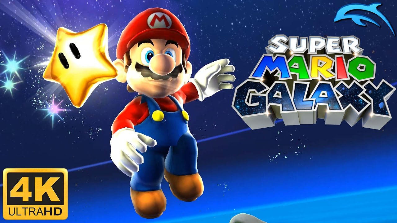 Super Mario Galaxy - Gameplay Wii 4K 2160p (Dolphin 5 0)