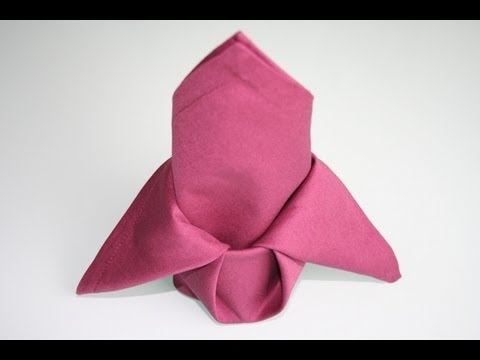servietten falten lilie napkin folding lily youtube. Black Bedroom Furniture Sets. Home Design Ideas