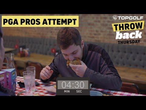 Topgolf Throwback Thursday: PGA Pros Attempt Food Challenge