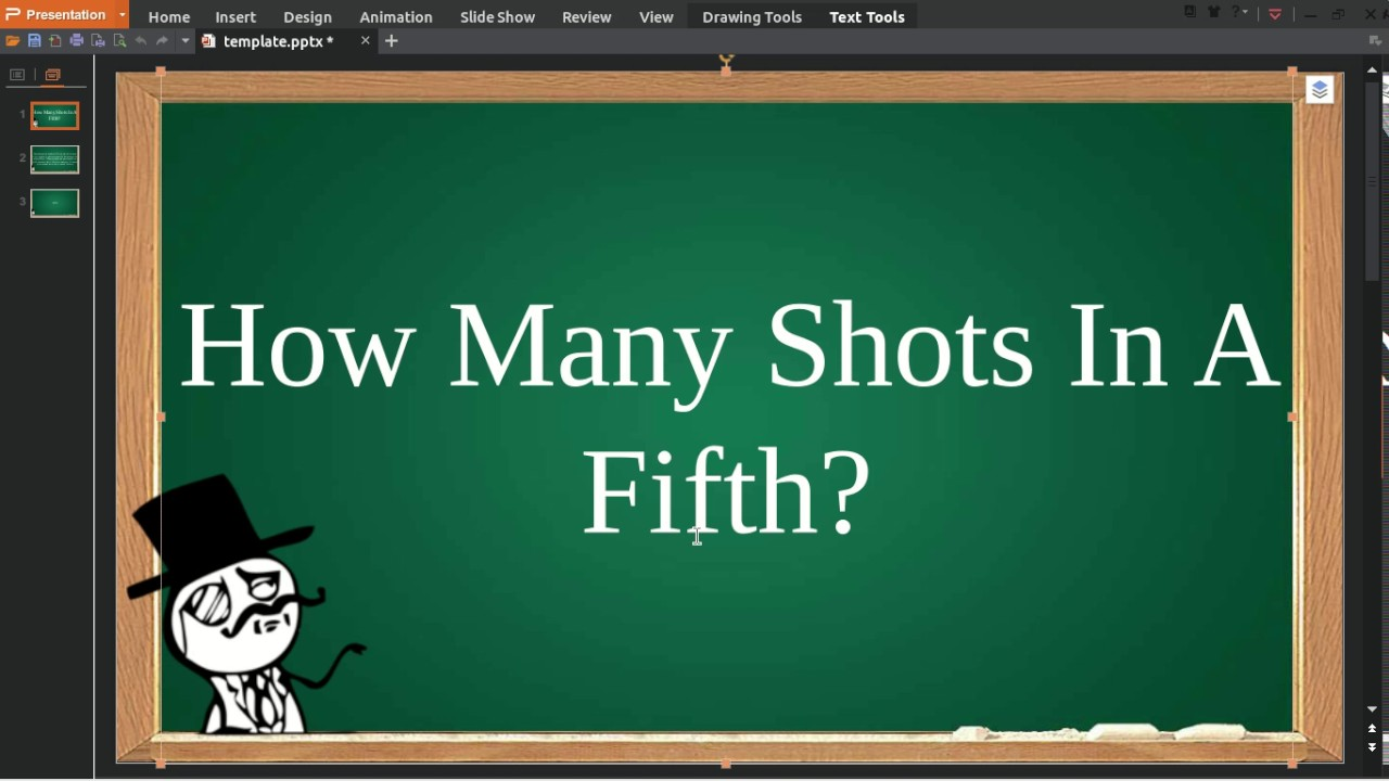 How many shots in a fifth