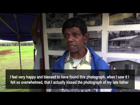 Eparama finds priceless photograph of his father at Archives outreach in Namosi. (English Subtitles)