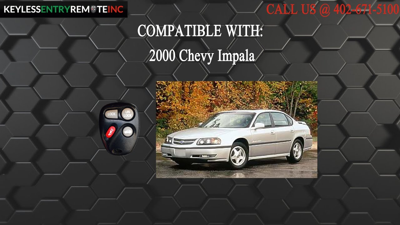 How To Replace Chevy Impala Key Fob Battery 2000