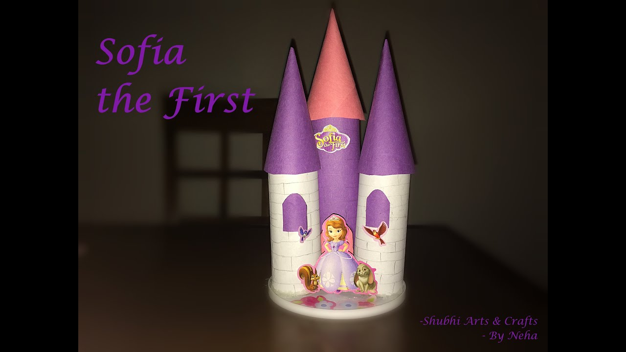 How to make a paper castle decoration - Diy How To Make A Princess Sofia Castle Using Tissue Paper Rolls Kids Crafts Ideas Youtube