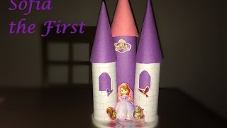 DIY: How to make a Castle using tissue paper rolls | Princess Sofia Castle - Kids Craft