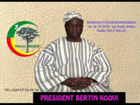 DR KOOVI BERTIN - Emission houindomanbou en BARIBA du 02-09-2015 sur RADIO BENIN ALAFIA