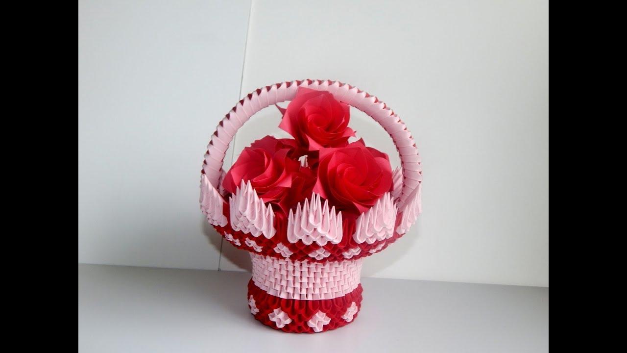 3d origami basket tutorial