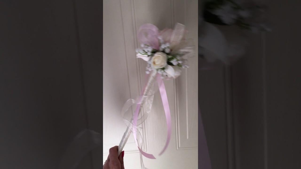Flower girl wand by Sister Sister Bouquets - YouTube