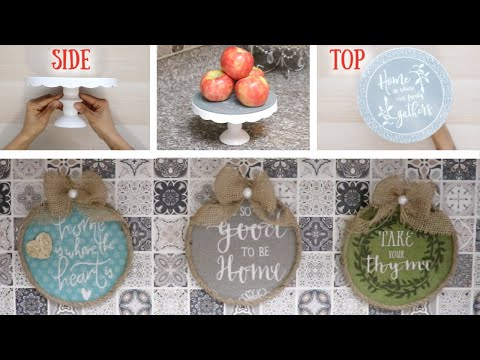 DIY DOLLAR TREE KITCHEN FARMHOUSE DÉCOR! SIMPLE & EASY! 28 MARCH 2019