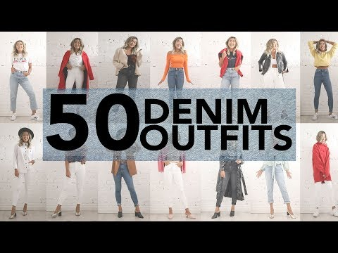 50 CASUAL JEANS OUTFIT IDEAS (Using 4 Jeans)