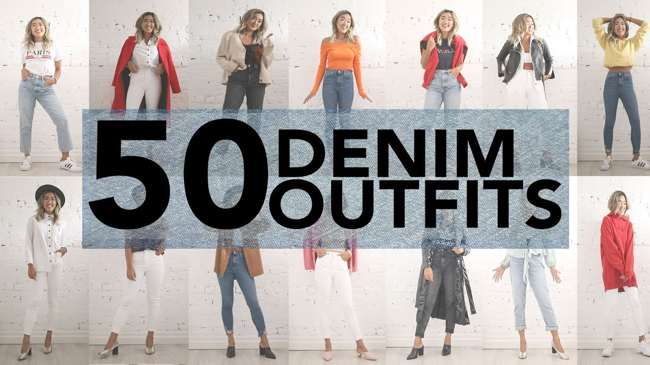 50 CASUAL JEANS OUTFIT IDEAS (Using 4 Jeans) 2
