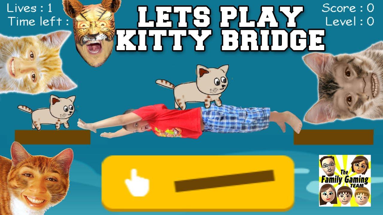 Download LETS PLAY KITTY BRIDGE! Cat Construction Feline Fun ! (FGTEEV Family Gameplay) like Stick Hero