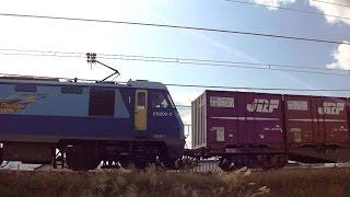 ブルーサンダーEH200-3牽引高速貨物 信越本線下り