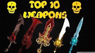AQW Top 10 Weapons 2018
