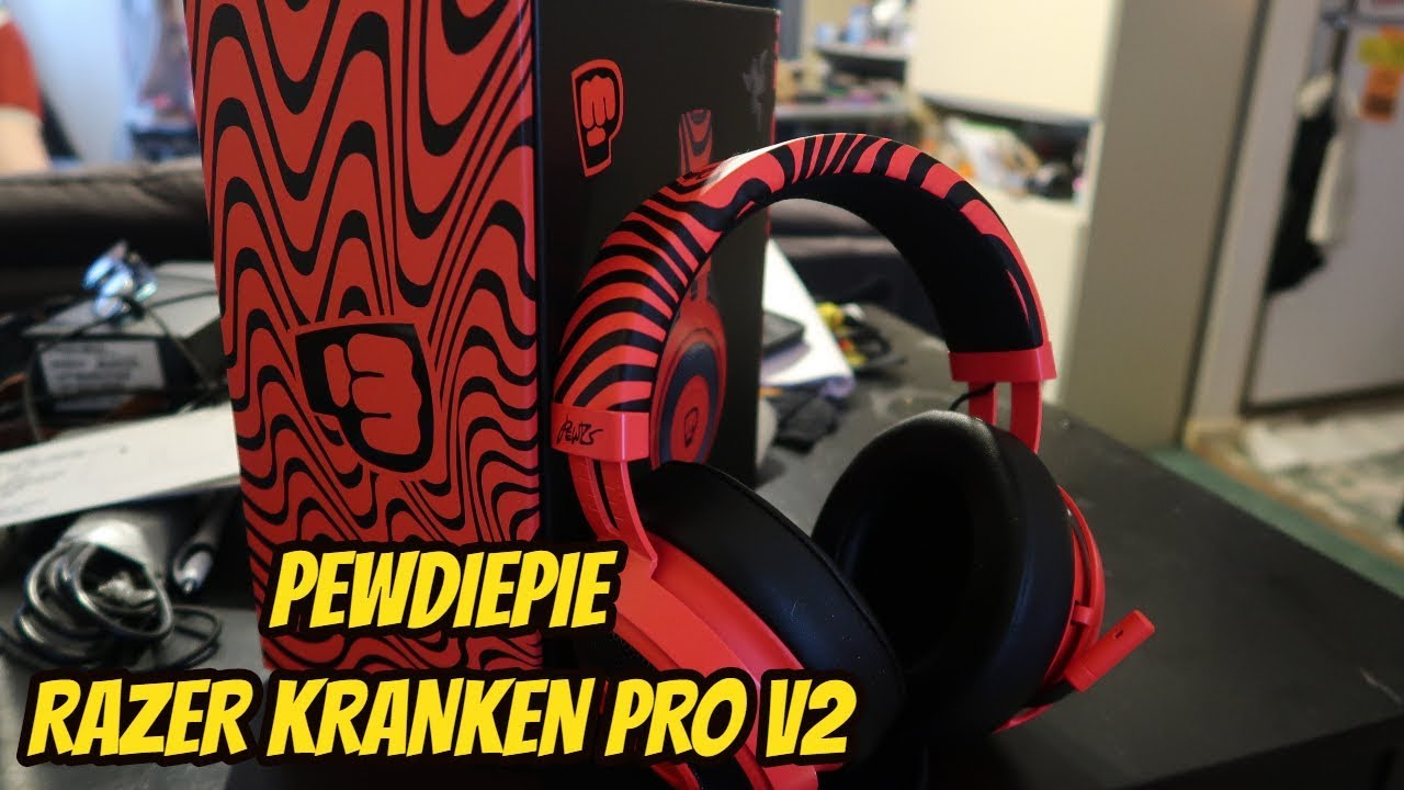 52aa1f9b8ca PEWDIEPIE RAZER KRAKEN PRO V2 HEADPHONE REVIEW - YouTube
