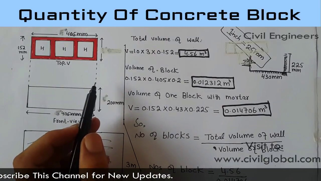 how to calculate quantity of concrete blocks [ 1280 x 720 Pixel ]
