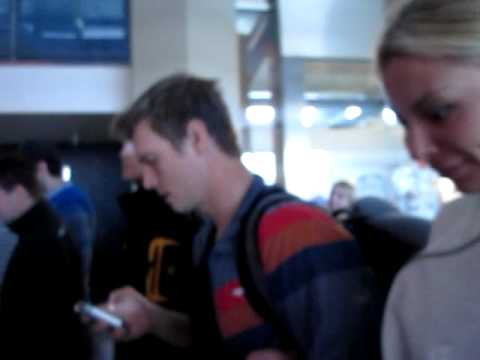 Me talking to Lauren Kitt / Gf Nick Carter at airport Cologne 2011
