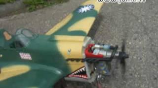 RC Curtiss P-40 E Warhawk Flying Tigers