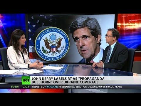 "Kerry bashes RT as ""propaganda"""