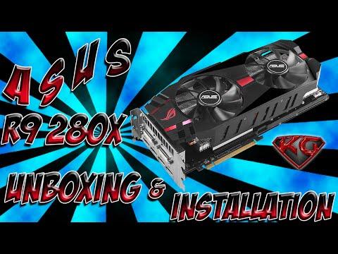 BTC: ASUS Radeon R9 280X DirectCU II R9280 DC2T 3GD5 Unboxing