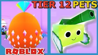 BUYING 15 TIER 12 PETS IN ROBLOX PET SIMULATOR *75 BILLION COINS*