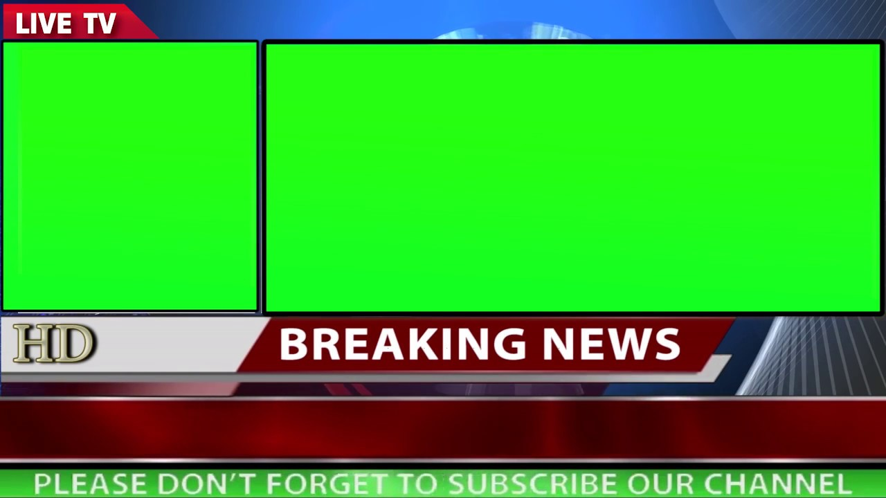 Free News Background With Two Green Screen Motion Video 1080p HD Part2